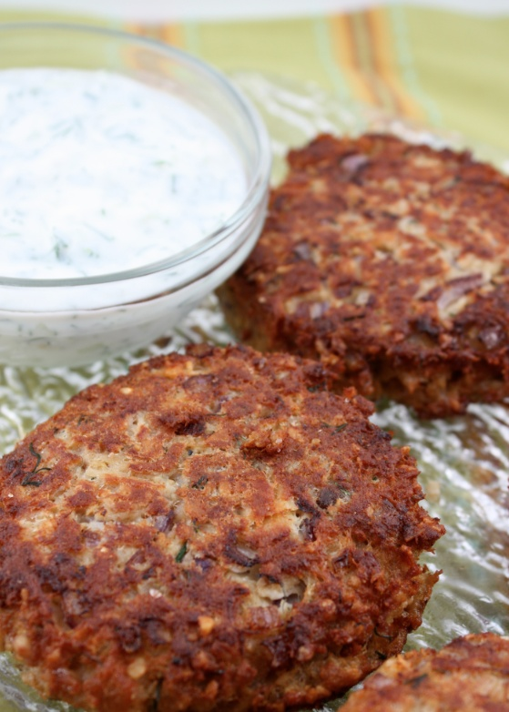 ... Day for Salmon Burgers with Dill Yogurt Sauce. Positively delicious