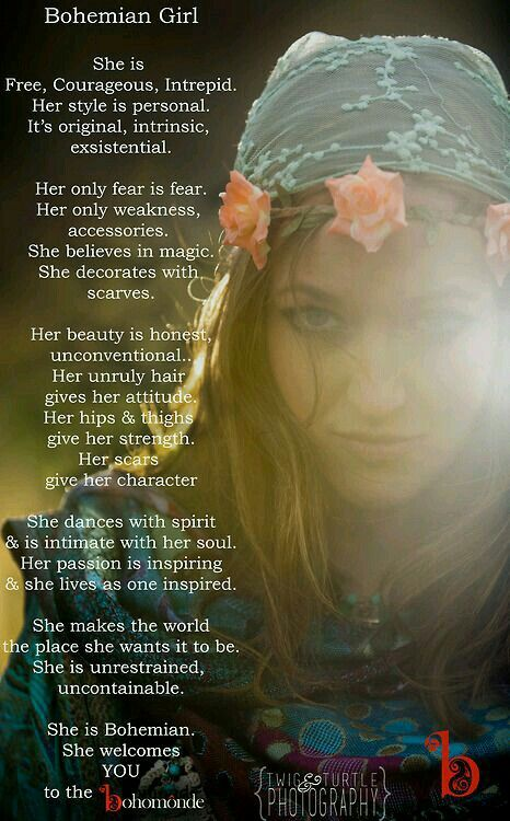 Bohemiam girl | Quotes | Pinterest | Bohemian, Girls and ...