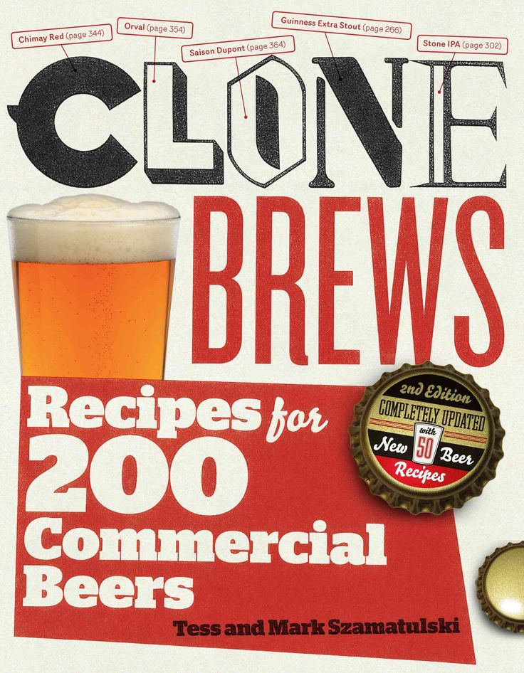 Brewing home versions of popular commercial beers has never been simpler or more fun than it is with the 200 recipes in CloneBrews . Home brewers will find everything they need to brew up a batch of t
