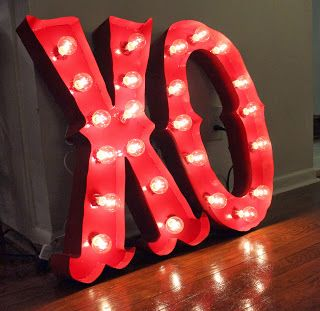 DIY Light-Up Marquee Letters