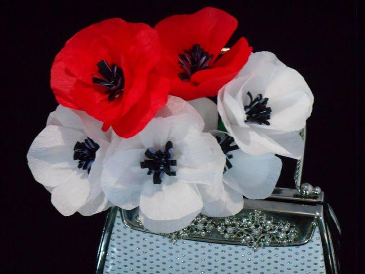 Tissue paper flowers tutorial : Pretty Poppies