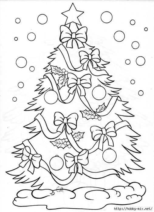 66 best Christmas Coloring Pages images on Pinterest Coloring - new christmas tree xmas coloring pages