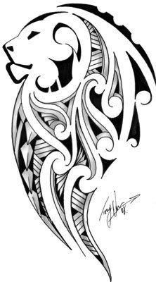 2D Maori/Lion by Tony @ Kirituhi Tattoo, via Flickr
