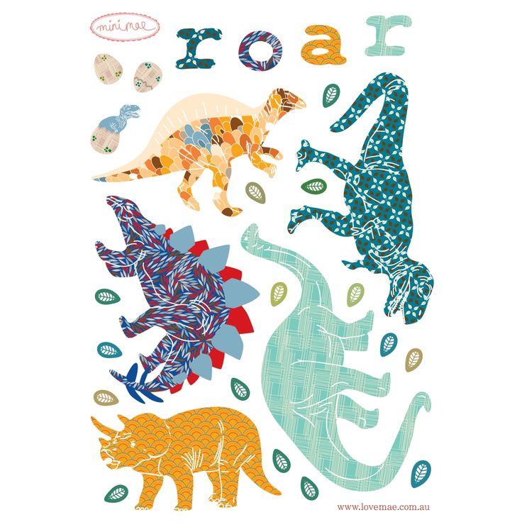 Mini sticker Dinosaurs : Love Maé - Stickers dinosaure - Berceau Magique