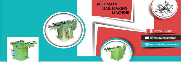 Nail Making Machine is basically producing common nails, Concrete Nail, Gi Nail, and Coil. Wire nail having a shaft or shank with the head, the shaft being proceed & formed with a tip and the head having defining a circle characterized in that the centre of the head is offset from the imaginary line of the shank.