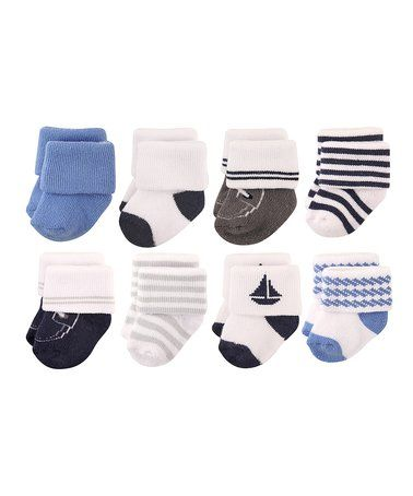 Love this Blue Nautical Sock Set - Infant on #zulily! #zulilyfinds