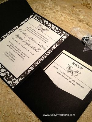 Clic Black And White Wedding Invitation The Is Printed On Paper Matted A Linen Card Stock