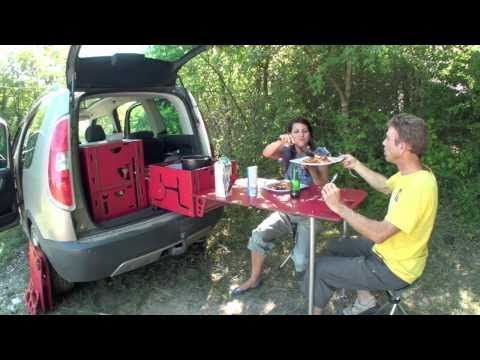 Turn your tiny car into a tiny camper!  Watch the video and see how cleverly they use the space - there's even a shower!