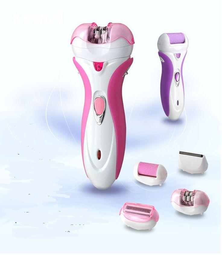 4 em 1 de barbear corpo ou biquíni depilador barbeador elétrico de barbear senhora depilação arquivo removedor de calos do pé pele morta alishoppbrasil