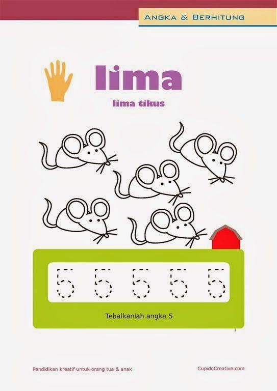 Belajar Angka Paud Anak Balita Tk Berhitung 1 10 Mewarnai Gambar