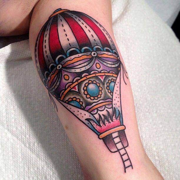 tattoo old school / traditional nautic ink - balloon