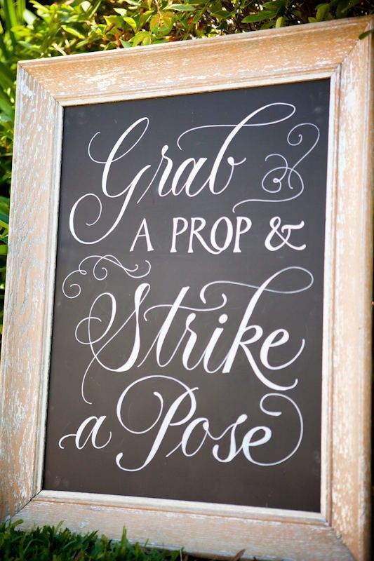 strike-a-pose-sign grab a prop and strike a pose photo booth sign wedding sign wedding party blog