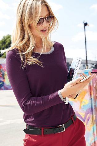 Buy Berry Long Sleeve Top from the Next UK online shop