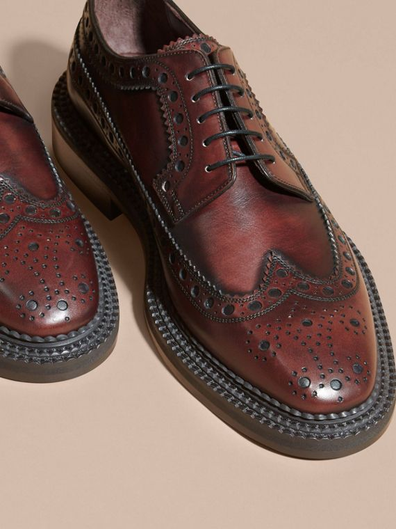 Chaussures richelieu de style derby en cuir | Burberry