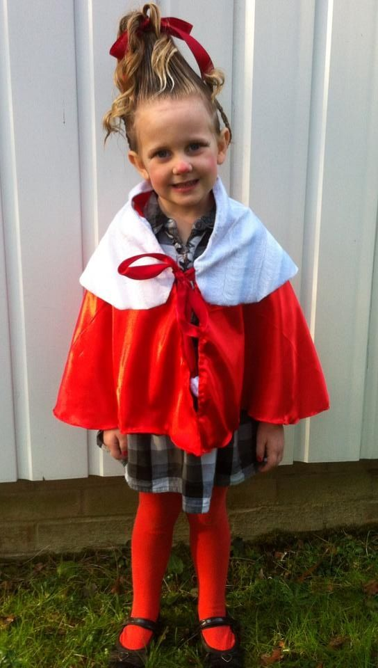 World book day fancy dress costume. Cindy Lou who from the grinch.