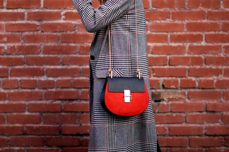 chloe drew bag black and red inspiration post