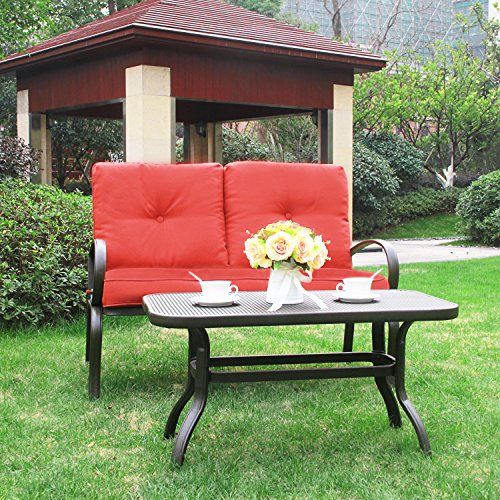 Cloud Mountain 2 PC Outdoor Loveseat Furniture Bistro Set Garden Patio Metal Coffee Table Bench Sofa With Cushions Brick red For Sale https://patioporchswings.info/cloud-mountain-2-pc-outdoor-loveseat-furniture-bistro-set-garden-patio-metal-coffee-table-bench-sofa-with-cushions-brick-red-for-sale/