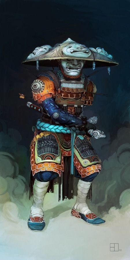 Samurai Art Illustration #Japan #Drawing