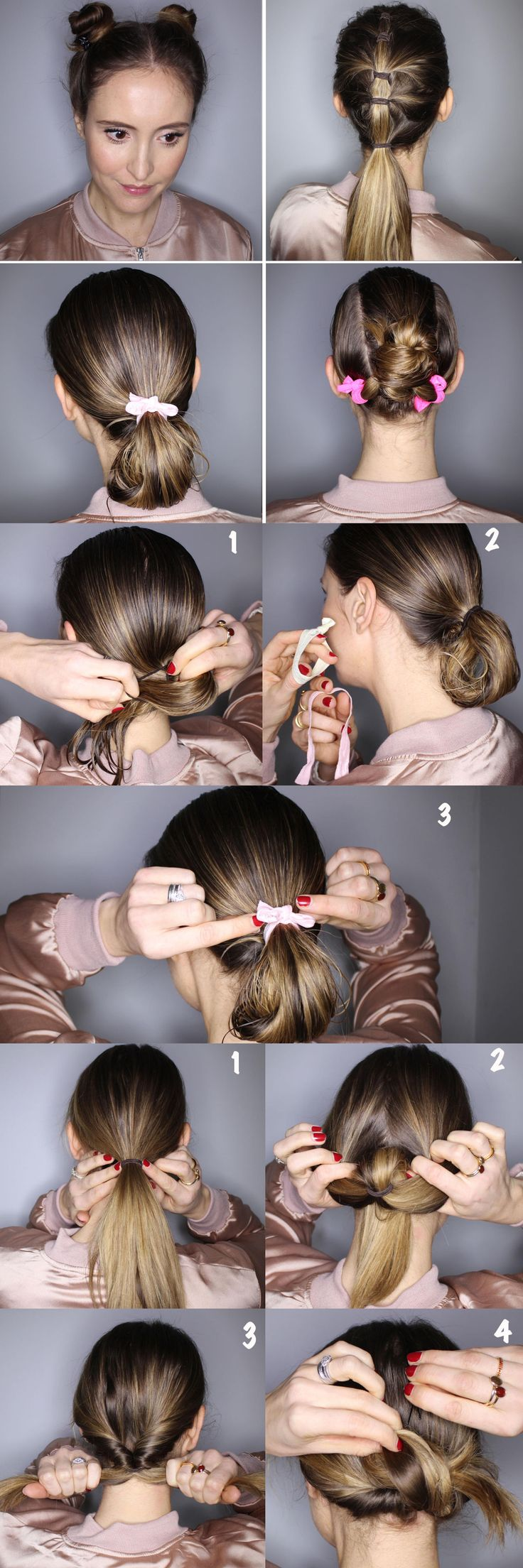 Gym hair ideas - to keep your hair off your face and look pretty in the process