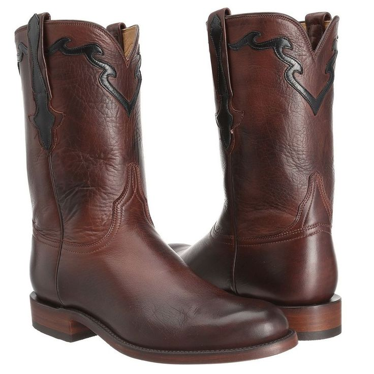 Lucchese Men's Whiskey Burnished Baby Buffalo Roper Boot L3555.RR #Lucchese #CowboyWestern