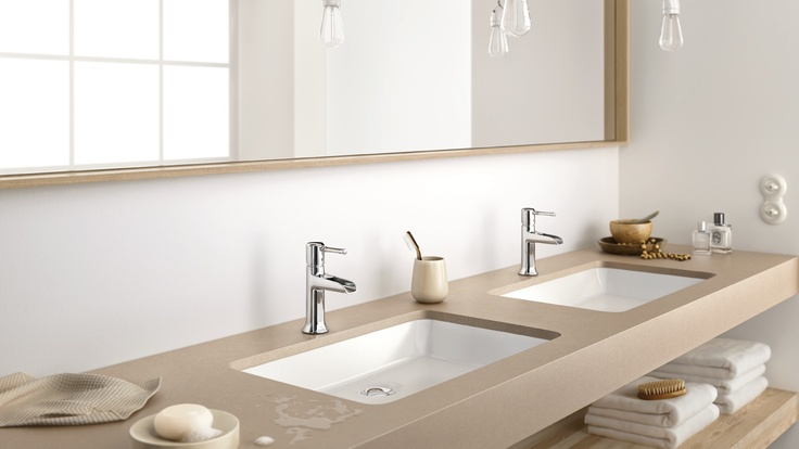 Classic bathroom design: #hansgrohe #washbasin mixers #TalisClassic #Talis