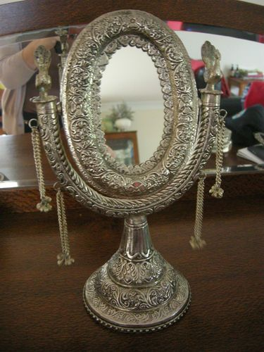 The games factory 2 dressing table mirror table mirror for Silver vanity table