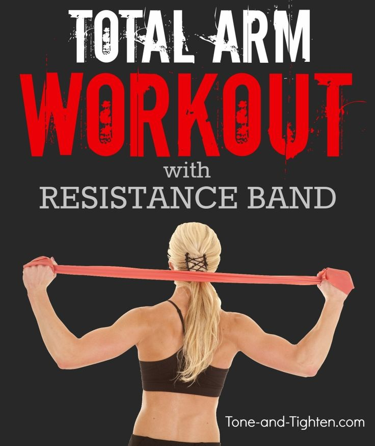 Killer arm workout with just a resistance band! From Tone-and-Tighten.com