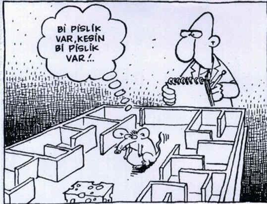 Bi pislik var, kesin bi pislik var!.. #karikatür #mizah #matrak #komik #espri