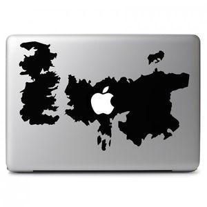 a game of throne map with apple for apple macbook air pro laptop decal sticker