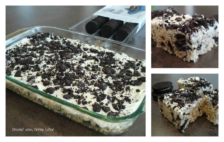 Dessert Now, Dinner Later!: Cookies & Cream Rice Krispies