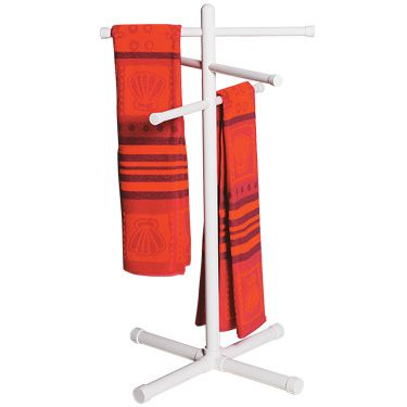 PVC towel rack, clothes drying rack, coat rack, the possiblites are endless!