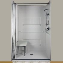 Wonderful High Quality US Made ADA Shower Enclosures And Walk In Showers With A 30  Year Warranty From Best Bath Systems. Offering An ADA Shower Stall And Roll  In ...