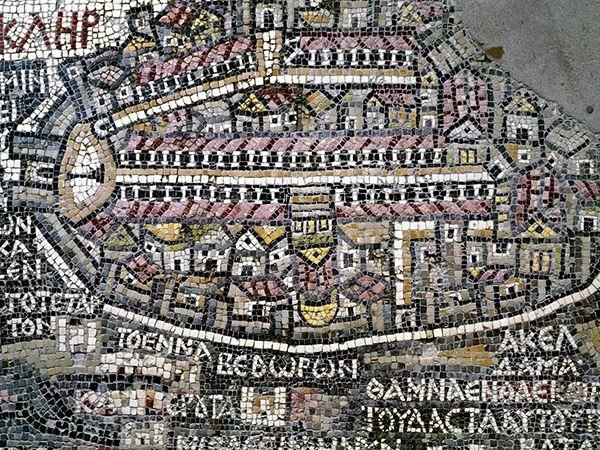 Picture of Map of Madaba mosaic in Madaba, Jordan