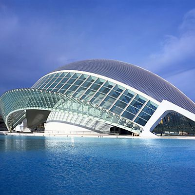 Valencia City Arts and Sciences Building. Santiago Calatrava