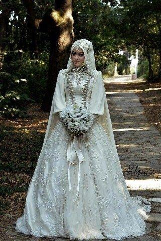 Inspirasi Gaun Pengantin Dengan Hijab