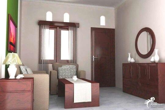 Ruang tamu kecil w/ mirror