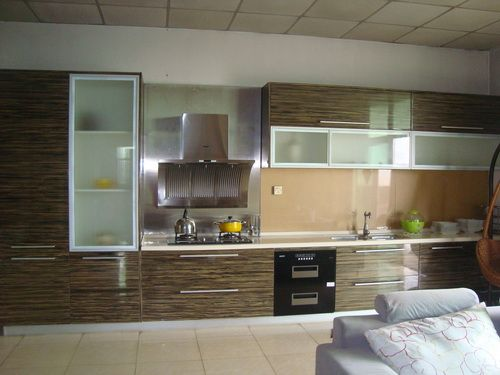 17 best images about kitchen cabinets ideas on pinterest menards kitchen cabinets unfinished - Painting wood veneer kitchen cabinets ...