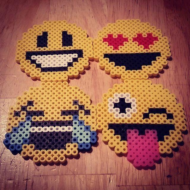 Emojis perler beads by Beccie