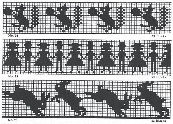 Cross stitch borders.