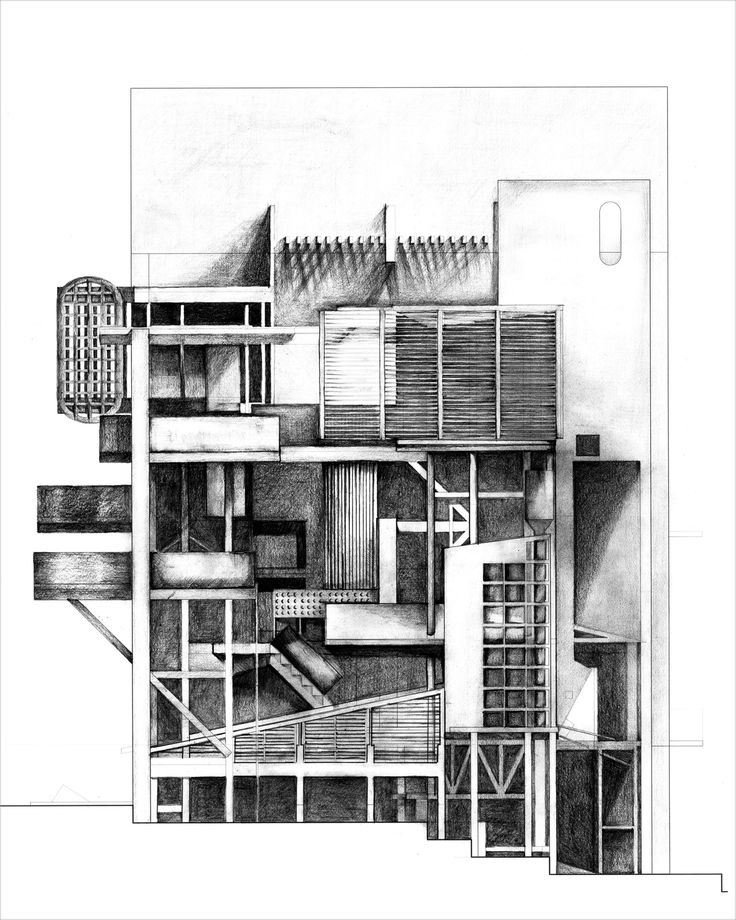 Architecture Sections Architecture Diagram Tan Drawing Drawing