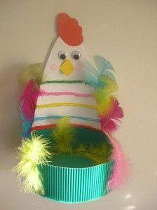 Free Easter Egg Basket Craft Idea For Kindergarten And Toddlerseaster Kidseaster Chick Crafteaster