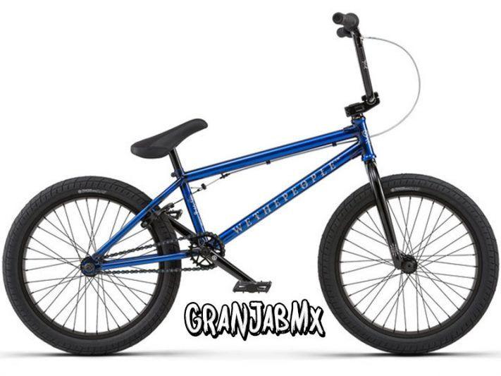 Bmx WeThePeople Arcade 2018 Bicicleta para raiders amateurs , con un tamaño de cuadro de 21″ Buje trasero sellado. Dirección sellada. Color: Azul/Negro Cuadro 21″
