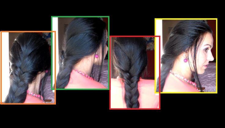 TUTORIAL:Hairstyle princely/Hairstyle for School/acconciatura per la scuola