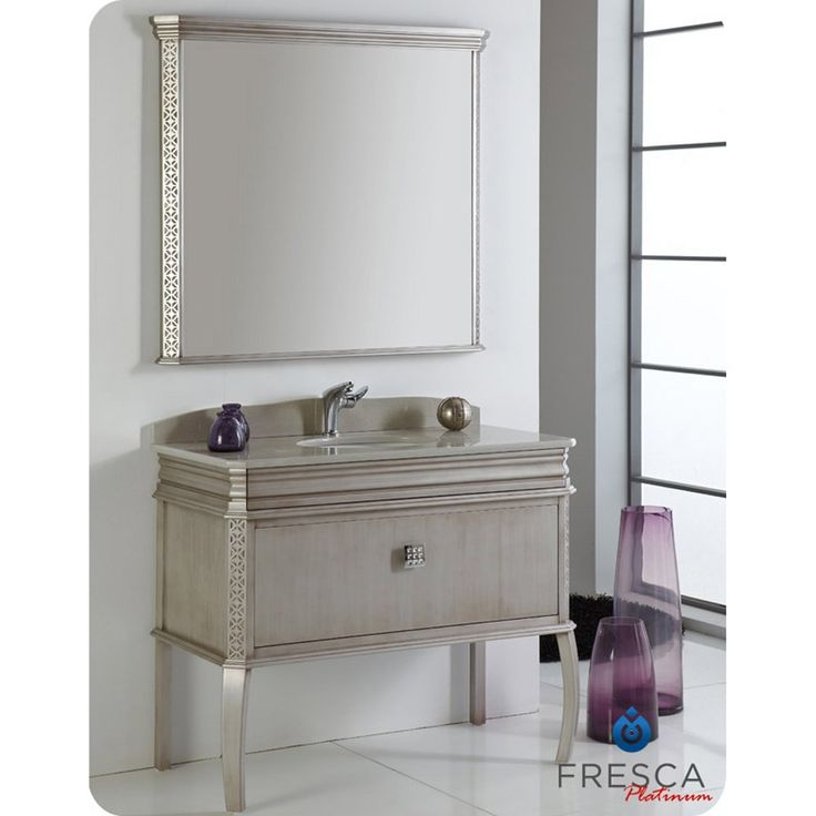 Website Picture Gallery Fresca Platinum London Antique Silver Bathroom Vanity w Swarovski Handles Bathroom Vanities