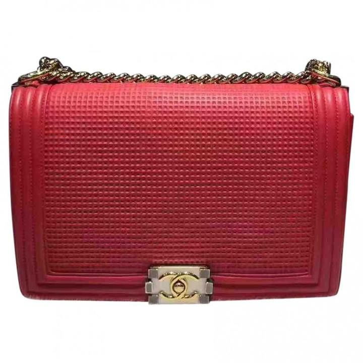 Red Chanel Boy bag with Gold Hardware   #Ad