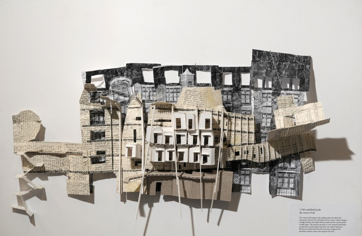 unfolded facade study - thudson architecture