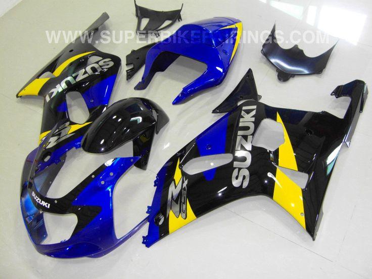 2001-2003 GSXR-600 750 Blue, Black & Yellow Suzuki Fairings