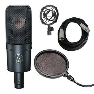 Audio-Rap Vocals Technica AT4040 Cardioid Condenser Mic wPop Filter and 20' XLR Cable