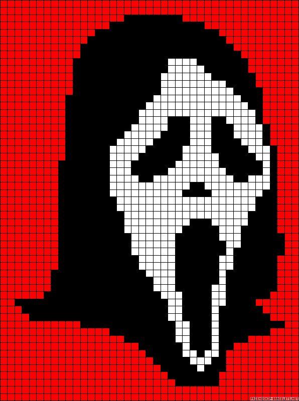 ghostface scream cross stitch