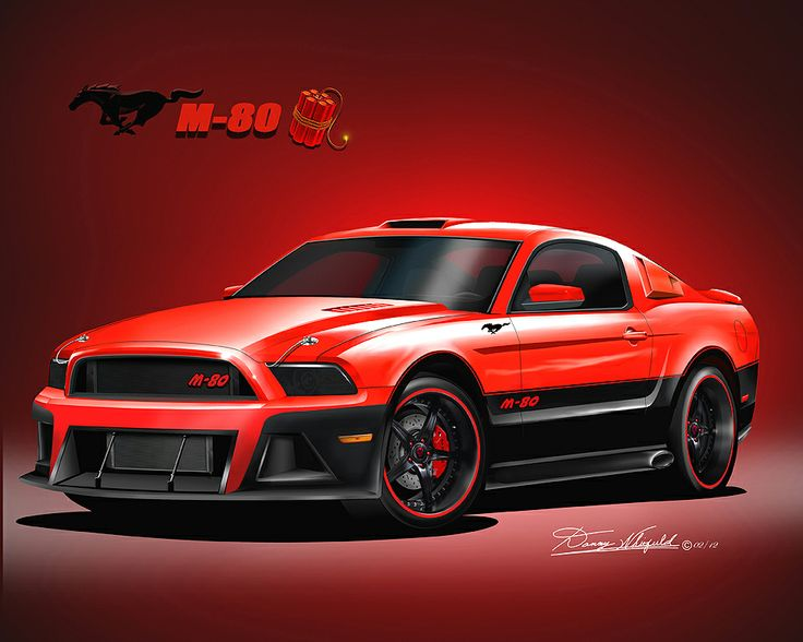 Item 017 Gt 24 2013 Custom Mustang M 80 Furnace Red Lava Black Art Print By Danny Whitfield Purchase At Http Www Dann Mustang Red Mustang Black Mustang